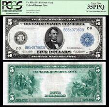 1914 $5 FRN PCGS VF35PPQ VERY NICE!