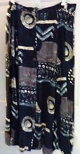 1045 Park Black Cream Green button down the front Skirt w/Aztec design Sz L