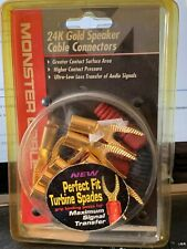 Monster 24k gold speaker cable connectors 4 pairs