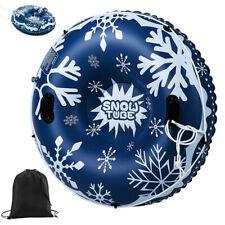 Aufblasbare Schlitten für Erwachsene Kinder Snow Tube Schneereifen mit Griffen