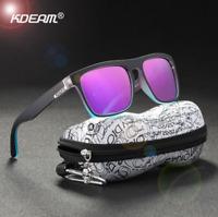 KDEAM Men Women Sport Polarized Sunglasses Outdoor Driving Square Glasses