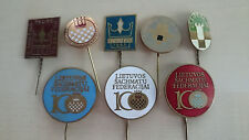 Soviet LITHUANIA chess pin, badge. Lot of 8