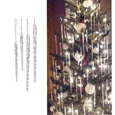 24Pcs Christmas Ornaments Clear Glass Icicle Vintage Tree Decorations Set Decor