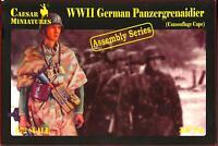 Caesar Miniatures 1/72 GERMAN WWII PANZERGRENADIERS Camouflage Cape Figure Set