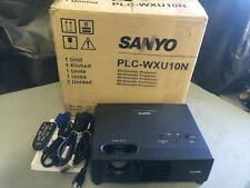SANYO PLC-WXU10N LCD PROJECTOR, WORKS GREAT!! 22 ORIGINAL HOURS!!