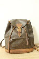 Authentic Louis Vuitton Monogram Montsouris MM Backpack #6788