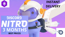 Discord Nitro   3 Months + 2 Server Boosts   Region Free    INSTANT DELIVERY