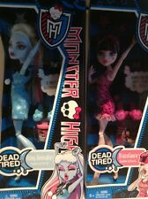 Lot of 2 Monster High Dolls Abbey Bominable & Draculaura Dead Tired NIB