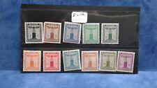 Germany Third Reich 11 Franchise Stamp Set Deutsches Reich