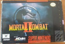 Mortal Kombat II for SNES complete in box