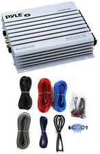 Pyle Plmra400 400 Watt 4-Channel Marine/Boat Amplifier Waterproof+8Ga Amp Kit