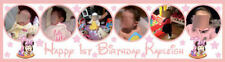 Large Children's Personalized Birthday Party Banner with photo - 4 Foot long