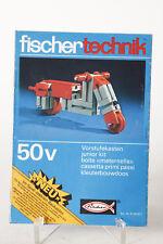 Fischer Technik   Anleitung zu Vorstufekasten 50v junior kit  (92152)