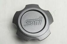 1Pcs Gray STI Oil Filler Cap Fuel Tank Cover Aluminum For WRX STi GC GF GG GE GH