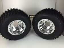 2 Rear Yamaha YFZ350 Banshee 350 Polished Aluminum Rims MASSFX Tires Wheels kit