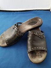 CLARKS Womens  Slide Sandals  71521 Leather  7M Black Salt