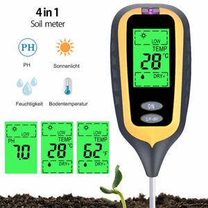 LCD 4in1 PH testeur sol Kit testeur lumière d'humidité l'eau pour plante jardin