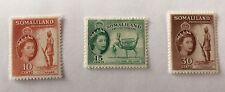 Somaliland Sg 138/139/141 LMM Cat £5,20