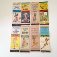 LOT OF 8 VINTAGE ' PINUP,GIRLIE ' MATCHBOOKS...1940S/50S..ORIGINAL