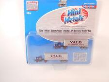 N Scale CMW Yale White Super PowerTractor 32' Aero Van Trailer Set #51136