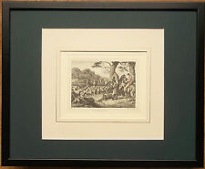 Hunting framed print - 20''x16'',  Stag Hunting, aquatint, Howitt print