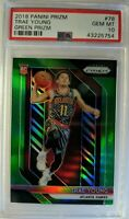 2018-19 Prizm Trae Young Green Prizm Refractor Rookie RC #78, Graded PSA 10