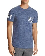 NEW MENS SUPERDRY NAVY SNOWY BLUE NO. 23 POCKET T-SHIRT SIZE LARGE