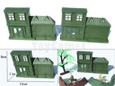 2 pcs Military House Building Models Plastic Toy Soldier Army Men Accessories