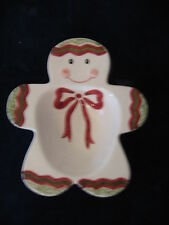 """Macy's """"The Cellar"""" Christmas Twilight Gingerbread Man Candy Dish -  Brand New"""
