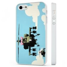 Banksy Helicopter WHITE PHONE CASE COVER fits iPHONE