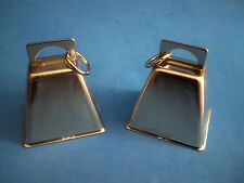 """New listing Lot of 2 Silver-colored Cow Bells 2 1/2"""" 4 Bird Toy Noise Making Crafts New"""