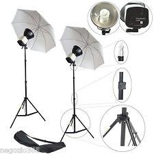 Illuminatore Studio Foto Video Lampada Luce DayLight KIT 150W + Ombrello Stativo