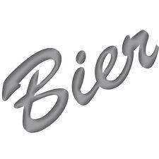 Birra 15cm Argento Adesivo Tatuaggio Decodificare Film Scritta Cucina BAR Frigo
