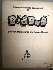 Original Atari Digdug Video Game Instuction Manual