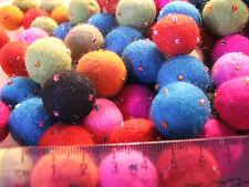 2cm felt balls x25 BEADED grab bag assorted colours