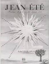 Publicité ancienne Jean Eté horloger 1948 issue de magazine