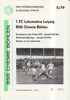 OL 78/79  BSG Chemie Böhlen - 1. FC Lok Leipzig