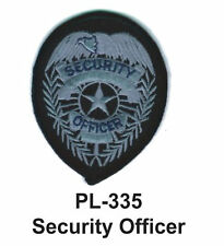 """SECURITY OFFICER(B) EMBROIDERED PATCHES 4"""""""