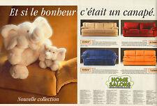 Publicité Advertising 1995 (Double page) HOME SALONS  collection canapé cuir
