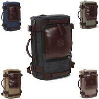 Men's Vintage Canvas Backpack Rucksack Shoulder Travel Hiking Camping Laptop Bag