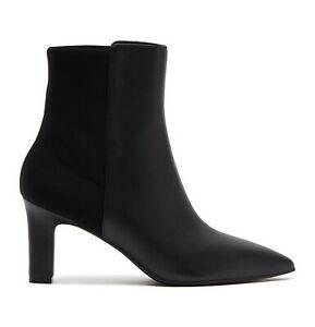 NEW Stuart Weitzman Lauri 75 Booties, Black Leather, US 7B, MSRP $575