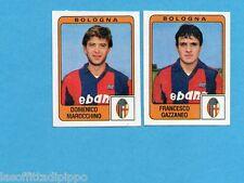 PANINI CALCIATORI 1984/85 -FIGURINA n.330- MAROCCHINO+GAZZANEO - BOLOGNA -Rec