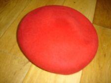 "Vintage Ladies Red  ""Glamour Felts"" Hat 100% Wool"