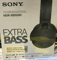 Sony Extra Bass Over-Ear Headphones Black MDR-XB950N1 New Mfg Sealed