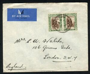 Jamaica 1936 Airmail Cover to UK - Nice Kingston cds