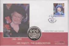 ST HELENA PNC COIN COVER 2002 QUEEN MOTHER MEMORIAL SIERRA LEONE COIN 0309
