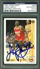 Rockets Larry Smith Authentic Signed Card 1991 Upper Deck #280 PSA/DNA Slabbed