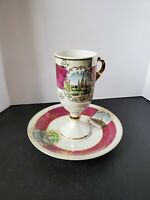 New Orleans Vintage Souvenir Cup & Saucer By S.J. Charia, made in Japan