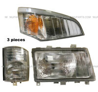 Headlight w/ Corner Lamp & Marker Light RH Fit Mitsubishi FUSO FE180 FE145 FE140