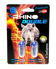 New Rhino Double Sex Pill Performance Male Enhancement Premium 25K Long Lasting